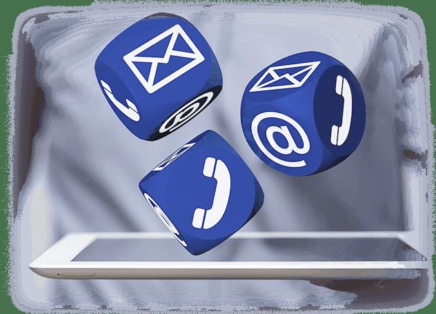 Kontakt znami - niebieskie kostki